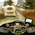警车爬坡司机