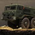 军用医疗卡车停车