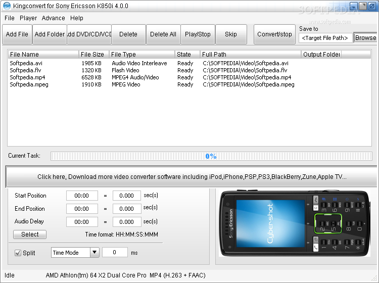 Kingconvert for Sony Ericsson k850i4.0.1