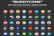 社交媒体图标矢量