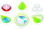 绿色环保图标矢量