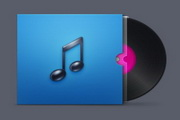 CD唱片图标PSD正