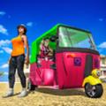 三轮自动人力车