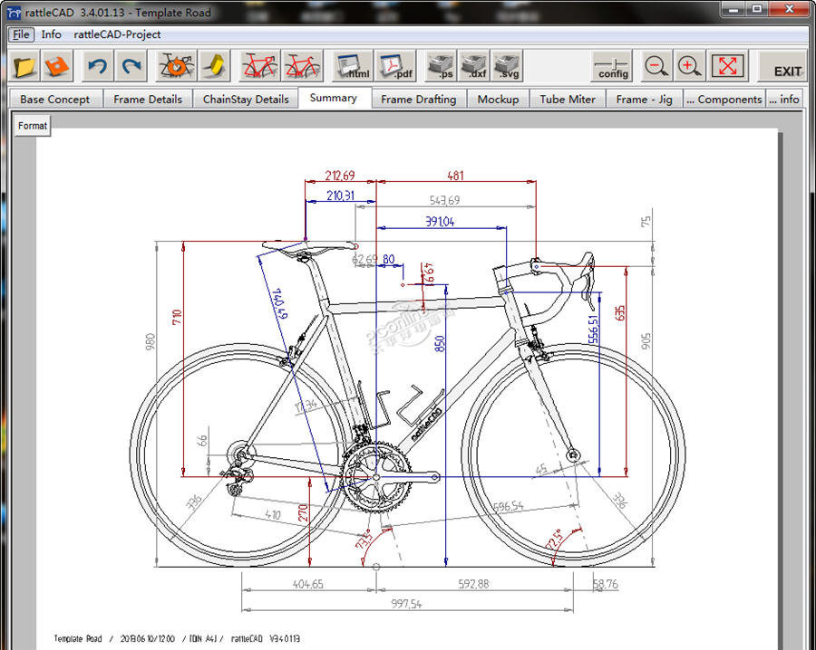 rattleCAD(自行车图纸设计工具)3.6.30 正式版