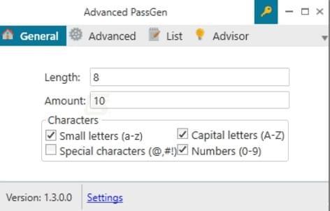 密码生成工具(Advanced PassGen)