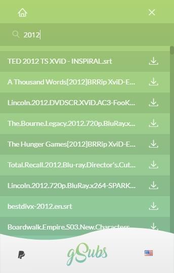 字幕搜索软件(gSubs)