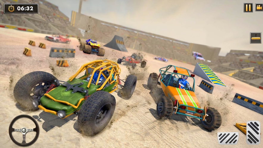 沙丘越野车撞车特技免费版