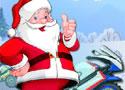 圣诞老人骑摩托赛- 赛车