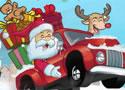 圣诞卡车送礼