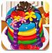 漂亮的彩虹煎饼-休闲